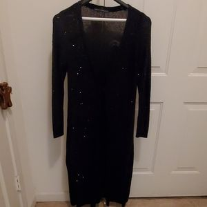 Black long sweater with sequins